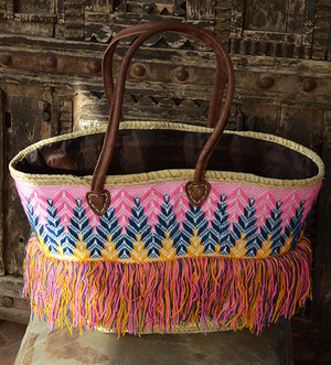 Handmade Moroccan Beach Bag - Summer Missoni Tassels