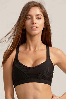 Courtney Sports Bra - Black