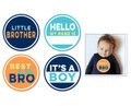 Sticky Bellies Little Brother Milestone Stickers