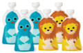 Squooshi Reusable Food Pouches - Small 6 Pack