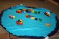Imagine for Kids Drawstring Play Mats 110cms - Navy & Aqua Blue