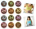 Sticky Bellies Pregnancy Milestone Stickers