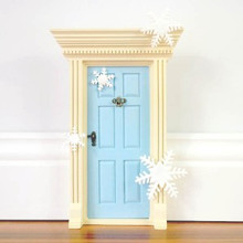A Package of 5 x Glittery Snowflakes - Create your own FROZEN Fairy Door