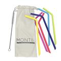 MontiiCo Silicone Straw Set
