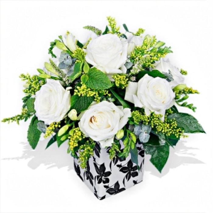 White Roses and Freesias