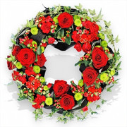 Red Rose and Ivy Wreath