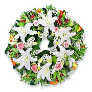 Lilies and Roses Wreath
