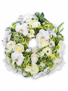 Orchids and Roses Wreath