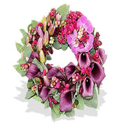 Luxury Purple Flowers Wreath