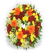 Orange and Burgundy Wreath