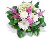 Flowers Posy with White and Pink Flowers