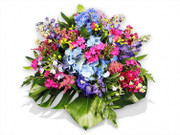 Pink and Blue Flowers Posy