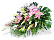 Pink Lilies and Roses Sheaf