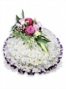 Pink, Purple and White Funeral Posy