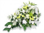 Regular White and Green Funeral Flower Spray