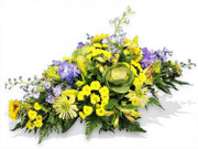 Regular Yellow and Purple Flower Spray