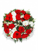 Roses and Chrysanthemum Funeral Posy