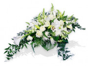 Small White Casket Arrangement