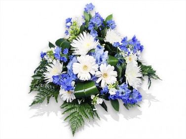 White And Blue Flowers Posy