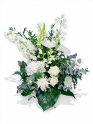 White Elegance Flower Basket