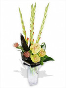 Front Facing Contemporary Vase Arrangement