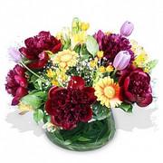Peonies, Gerberas and Tulips in a Vase