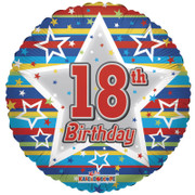 18th birthday helium balloons