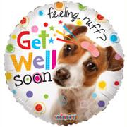 get well soon dog helium balloon design