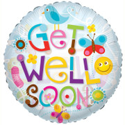 get well elements helium balloon