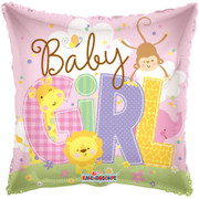 baby girl 'animals' design balloon