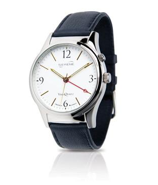 Serene Vibrating Alarm Dress Watch - White