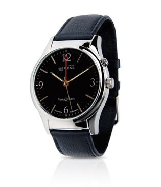 Serene Vibrating Alarm Dress Watch - Black