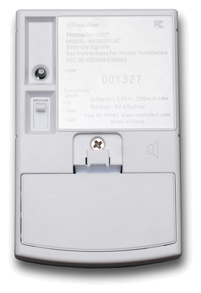 HomeAware Baby Cry Transmitter - HA360SSBCK - Back View