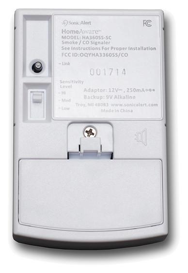 HomeAware Smoke / CO Sound Transmitter - HA360SSSCK - Back View