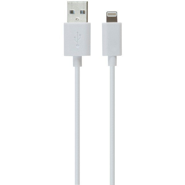 iLuv Charge & Sync Lightning™ to USB Cable (White)