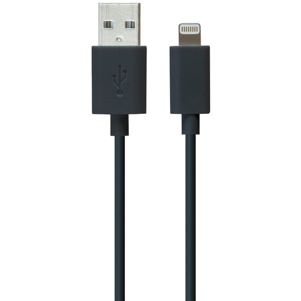 iLuv Charge & Sync Lightning™ to USB Cable (Black)