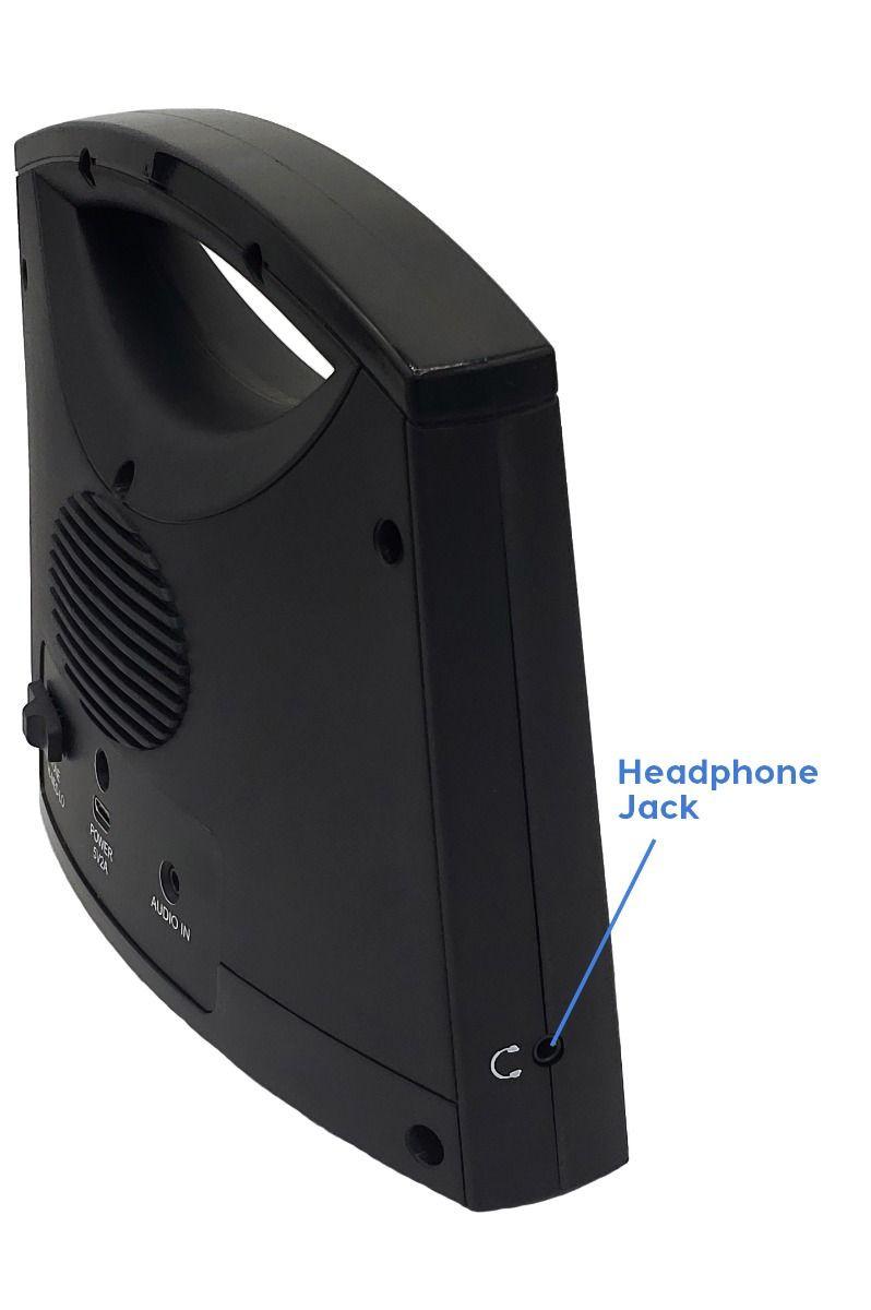 Sereonic TV SoundBox® by Serene - BT100 (Headphone jack on left side of SoundBox)