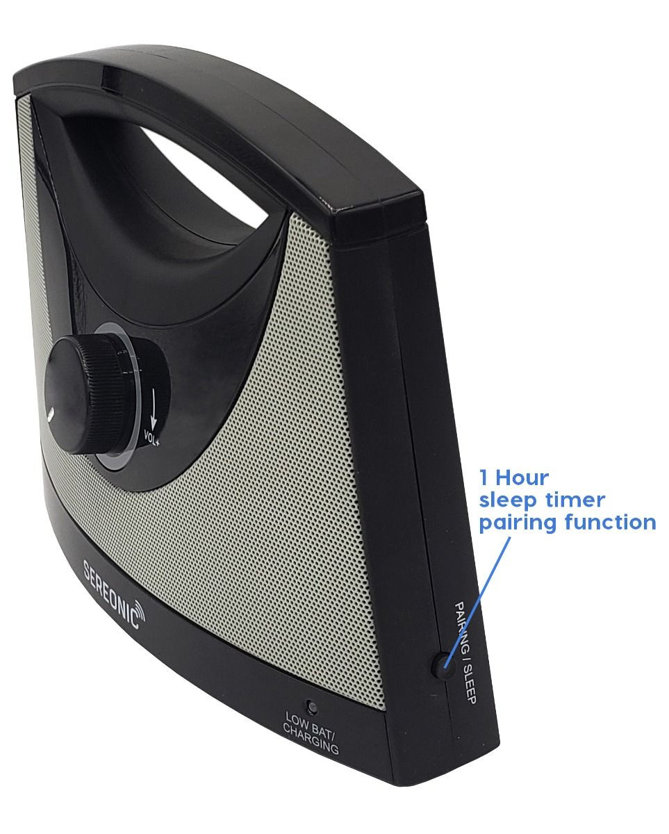 Sereonic TV SoundBox® by Serene - BT100 (Sleep timer function on right side of SoundBox)