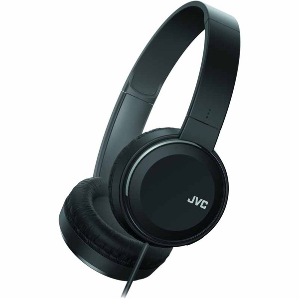 JVC HA-S190MB Colorful On-Ear Wired Headphones (Black)