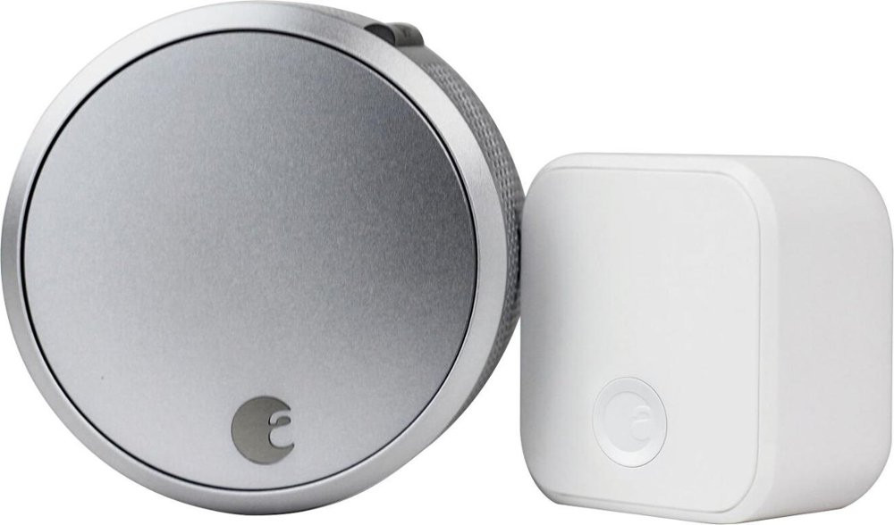 August Smart Lock Pro + Connect - Smart Door Lock - Silver