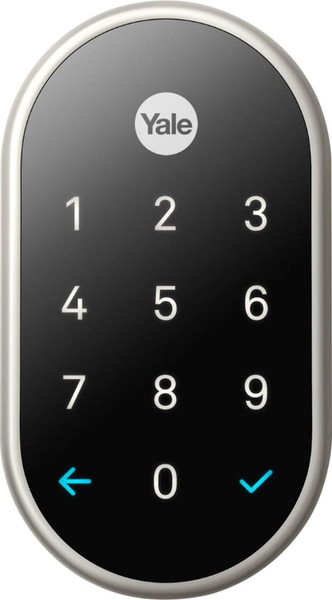 Nest x Yale Smart Lock with Nest Connect - Satin Nickel - Exterior (Front)