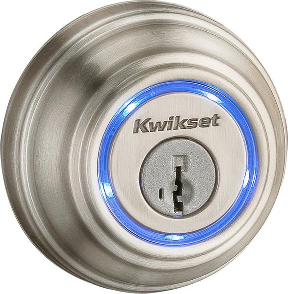 Kwikset Kevo Smart Lock, 2nd Gen - Satin Nickel - Exterior
