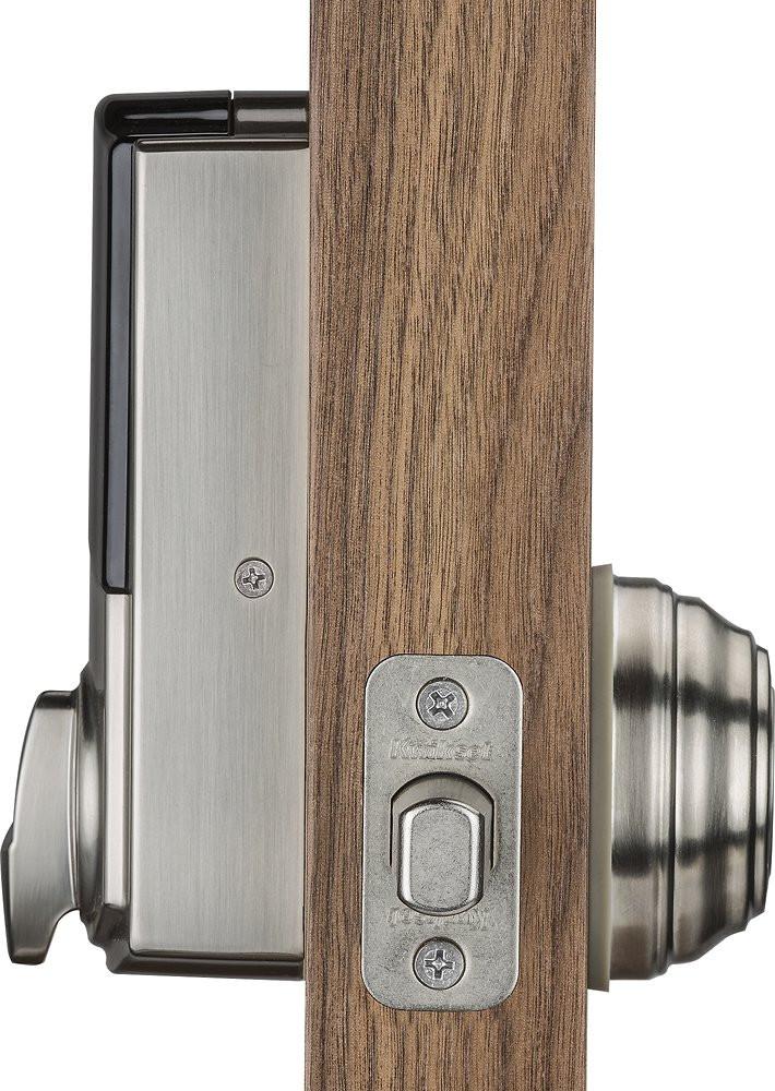 Kwikset Kevo Smart Lock, 2nd Gen - Satin Nickel - Door Mounted