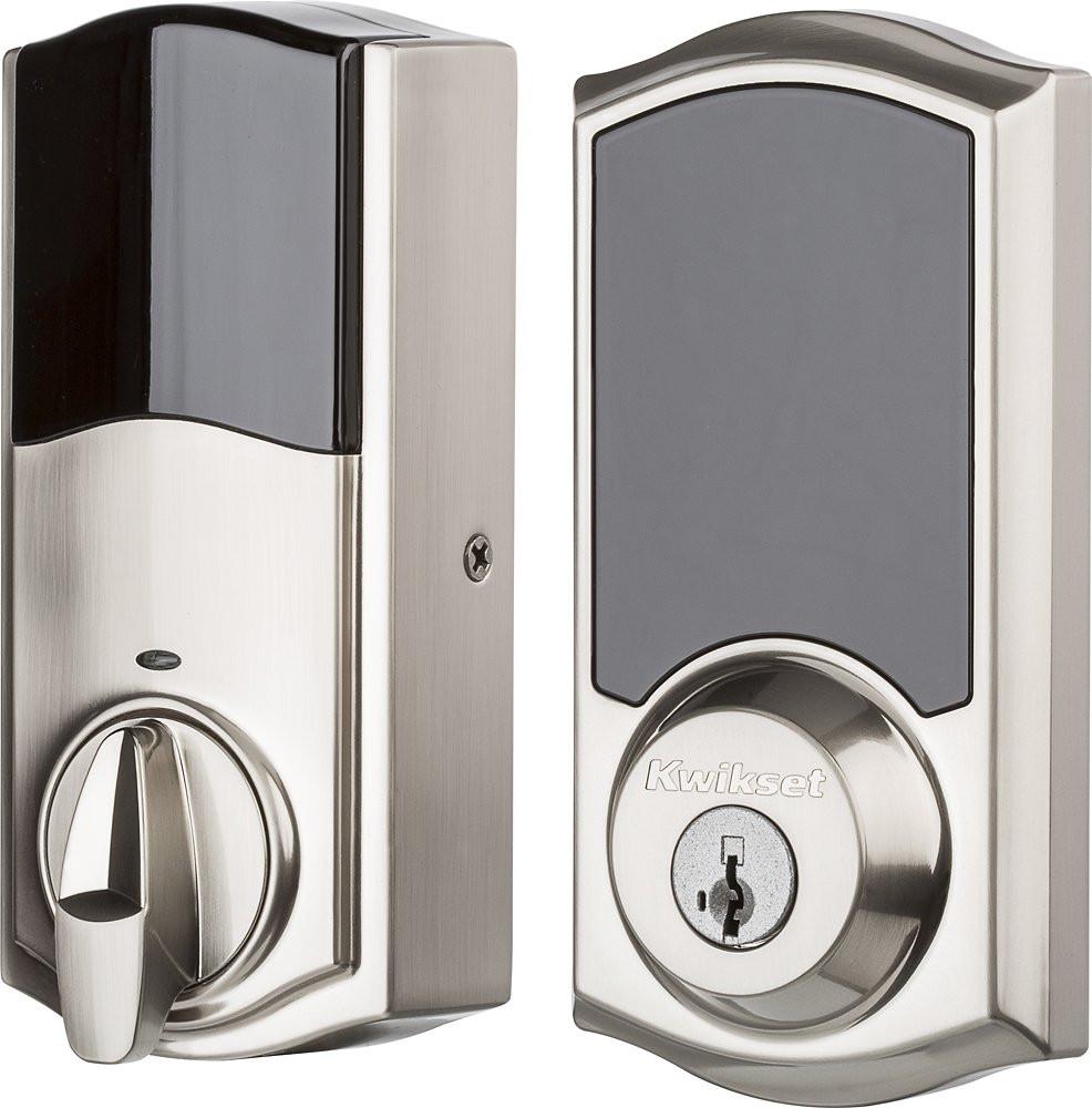 Kwikset 919 Premis Smart Lock - Satin Nickel - Interior-Exterior
