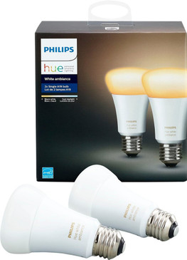 Philips Hue White A19 Bulbs - 2 Pack with Product Box