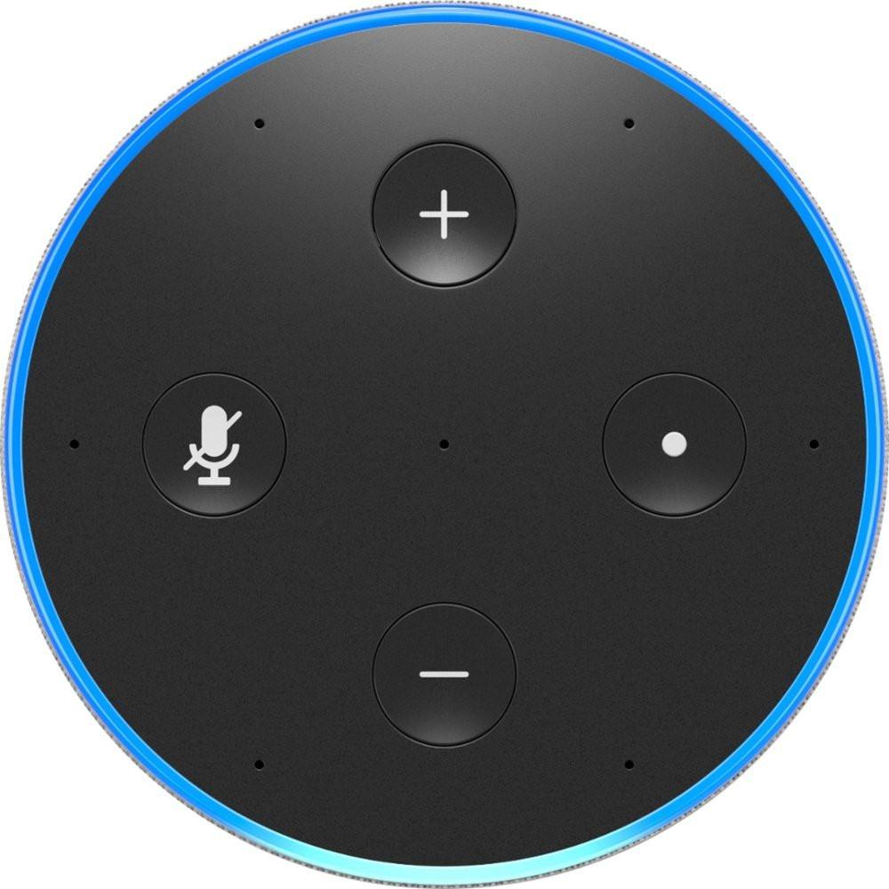 Amazon Echo, 2nd Gen - Sandstone Fabric - Top