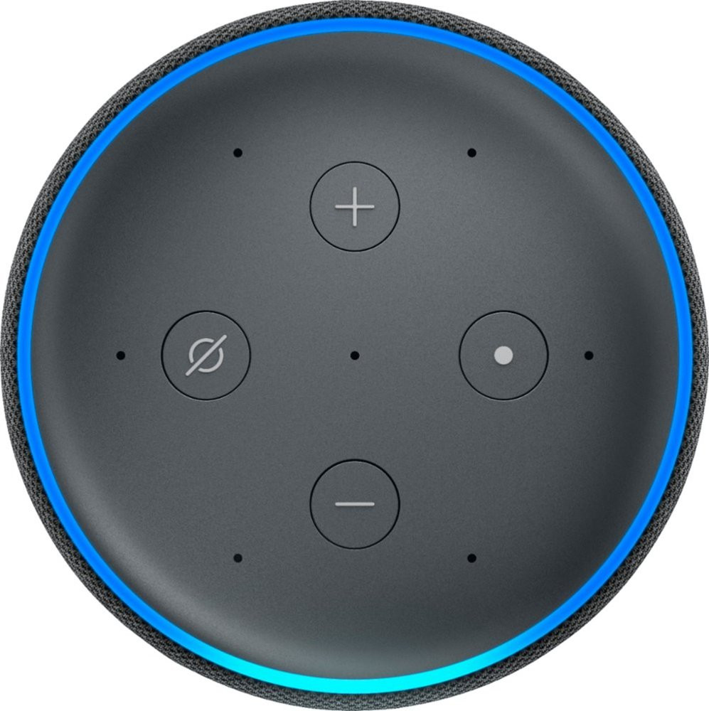 Amazon Echo Plus, 2nd Gen - Charcoal - Top