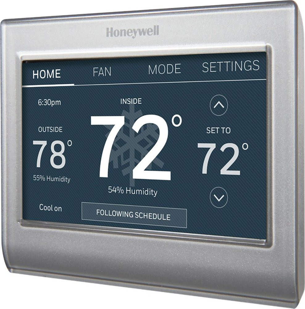 Honeywell RTH Color Thermostat - Angle