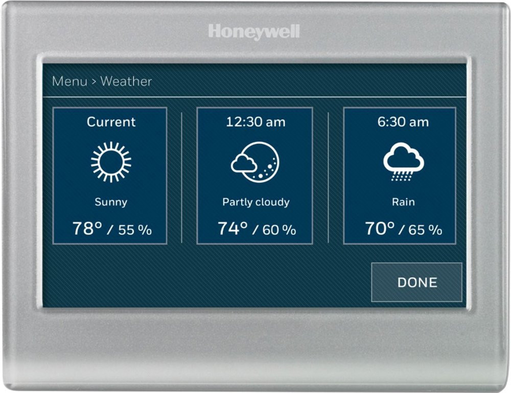 Honeywell RTH Color Thermostat - Daily Forecast