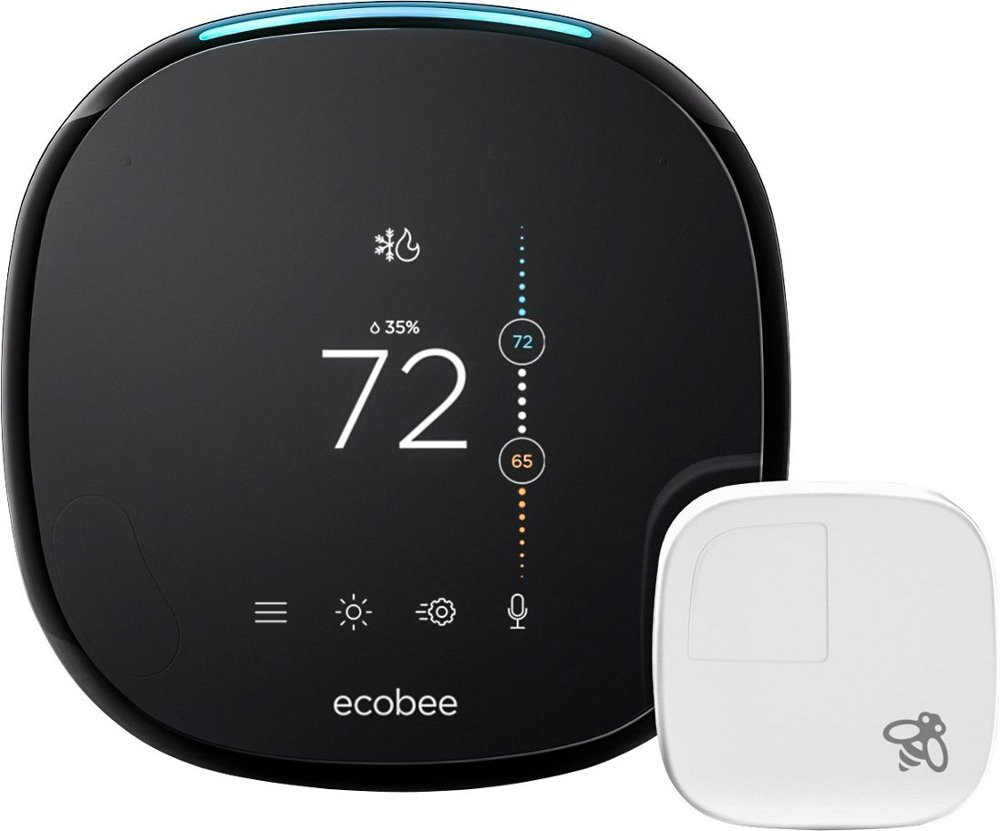 ecobee4 Thermostat with Room Sensor - Front